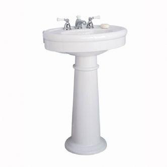 Eljer Sinks : Eljer - Endicott Pedestal Lavatory - 8 Inch Centers - Product Detail